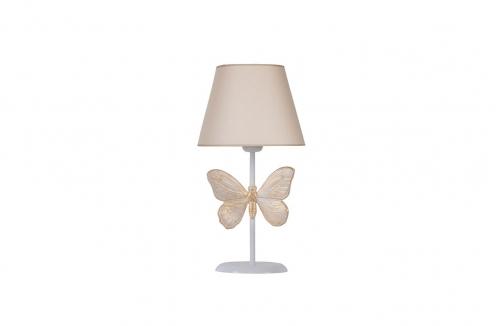 Kelebek Abajur Beyaz Bej