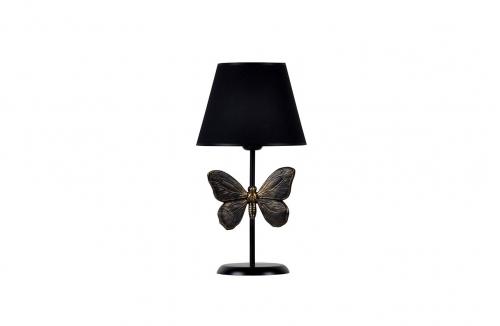 Kelebek Abajur Gold Siyah