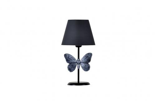 Kelebek Abajur Gümüş Gri
