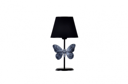 Kelebek Abajur Gümüş Siyah